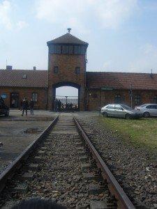 Auschiwtz birkenau entrance.